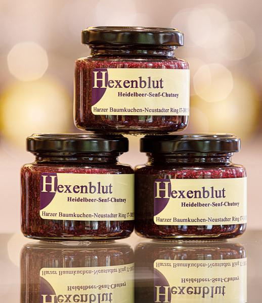 Hexenblut 110g Heidelbeer-Senf-Chutney